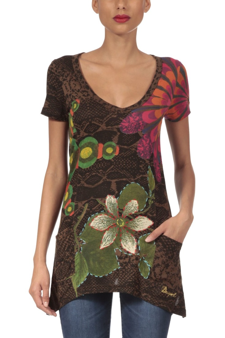 Desigual Womenu0027s T Shirt Short Sleeve 29t2410 Enteleckia Sale: $69.00