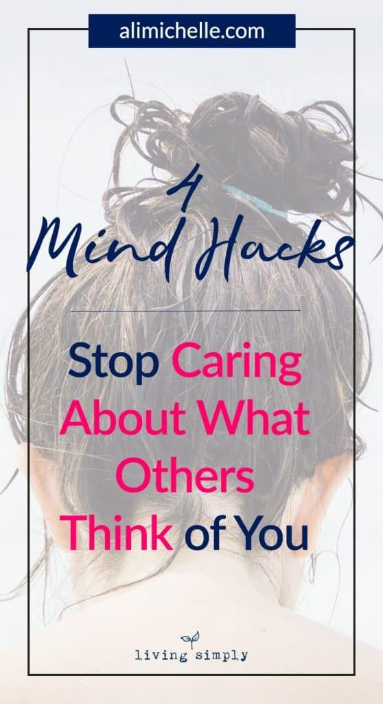 how to stop caring about what others think reddit