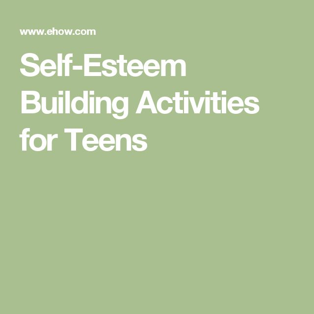Teen Self Esteem Activities 3