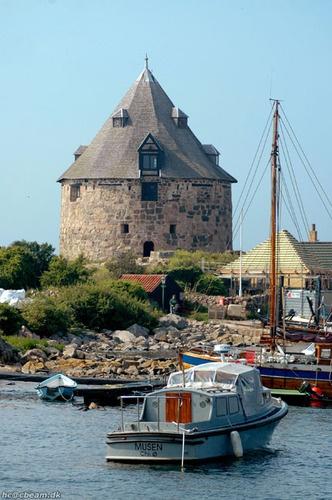 The cannontower on Fæstningen Christiansø  Northeast of Bornholm, Denmark