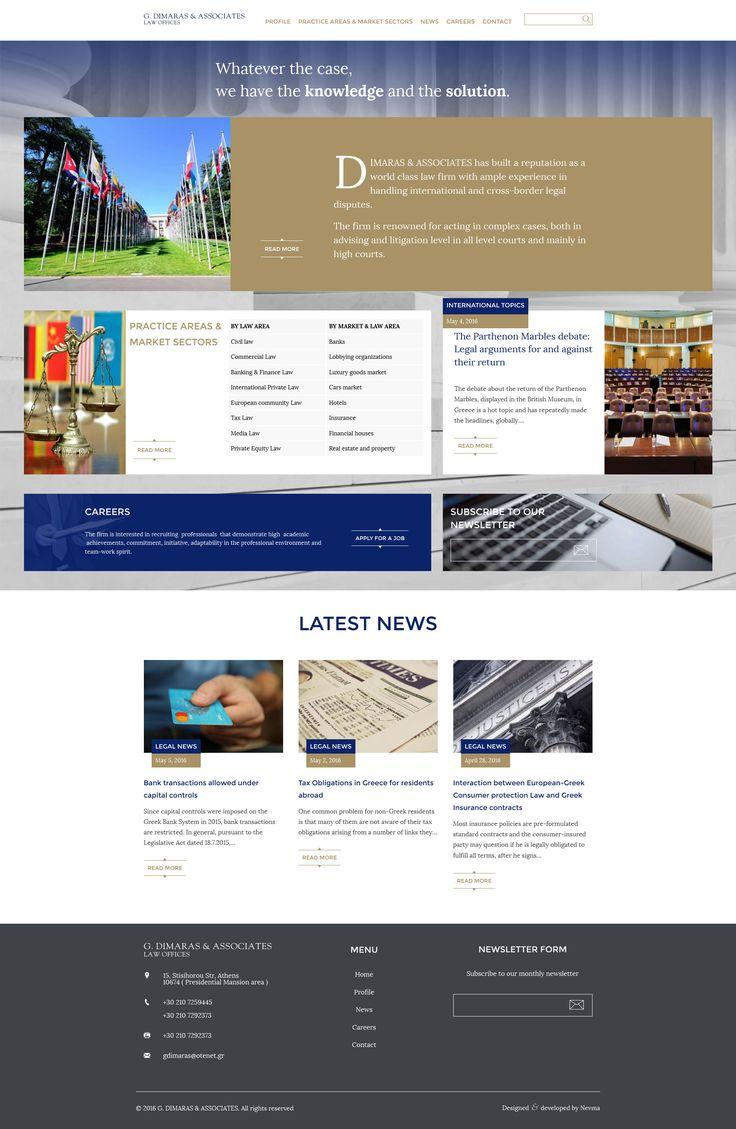 Σχεδιάσαμε και κατασκευάσαμε την ιστοσελίδα του δικηγορικού γραφείου Δημαράς και Συνεργάτες δίνοντας μεγάλη σημασία στο χαρακτήρα του. Όλες οι πληροφορίες για τη λειτουργία, τη δραστηριότητα και τα νέα του γραφείου είναι διαθέσιμες στη νέα ιστοσελίδα του δικηγορικού γραφείου. www.dimarasg.gr