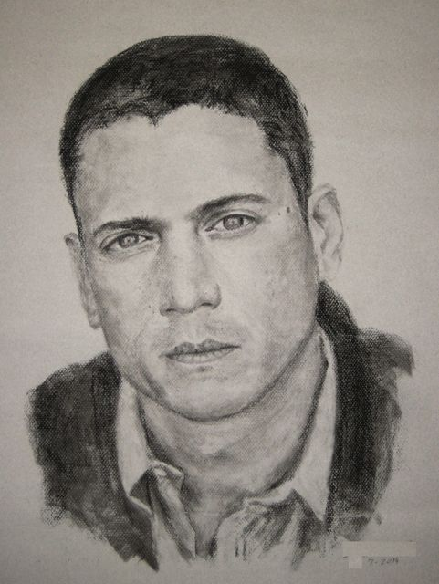 Wentworth Miller - Charcoal Portrait - I would really like ...