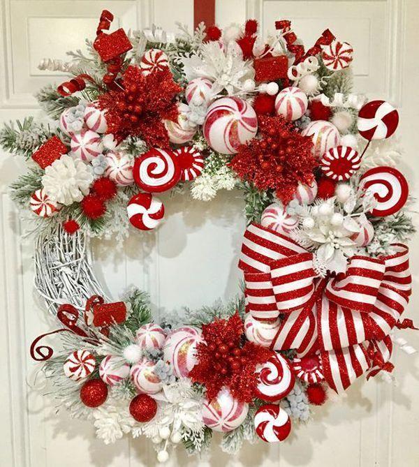 Dollar Store Christmas Wreaths Diy Beautiful Christmas Wreaths Pinterest Christmas Wreaths Diy Christmas Wreaths Christmas Decorations Wreaths