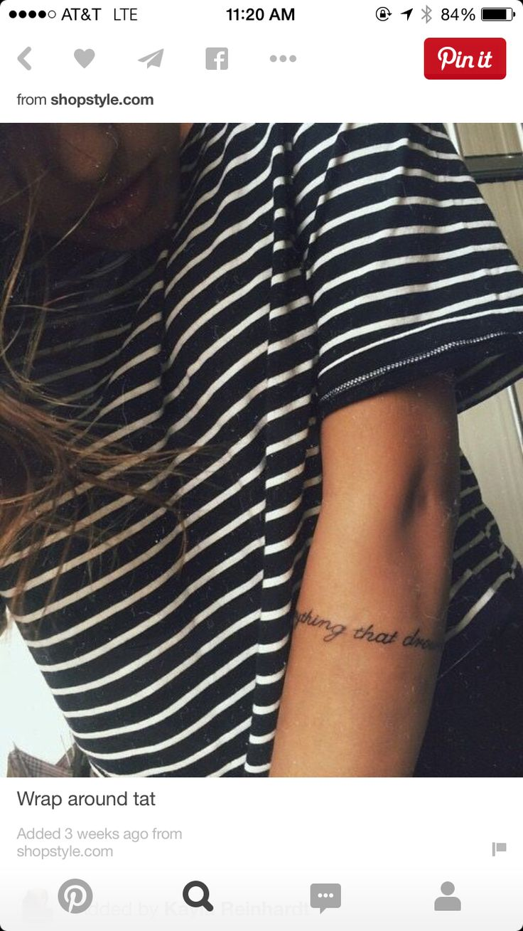 Arm band tattoo - placement