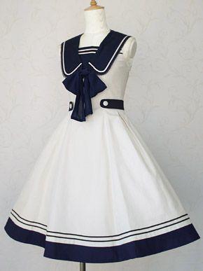 Victorian maiden Classic Marine dress