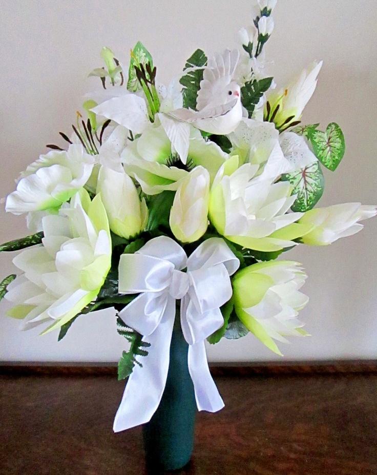 Flower Arrangements For Cemetery Vases Images Google Search Flower Arrangements Pinterest