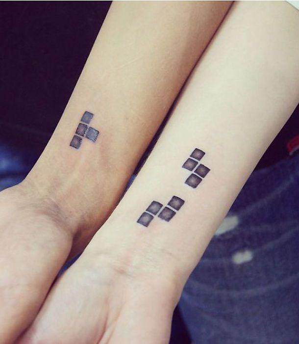 Un tatouage complémentaire en mode Tetris