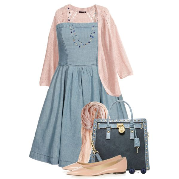 Spring Denim Dress, created by brendariley-1 on Polyvore