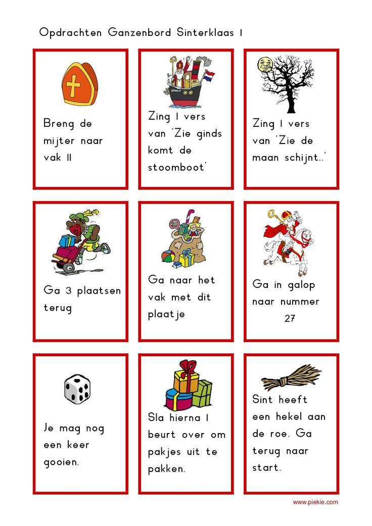 * Sinterklaas ganzenbord! Spelkaartjes! 3-4