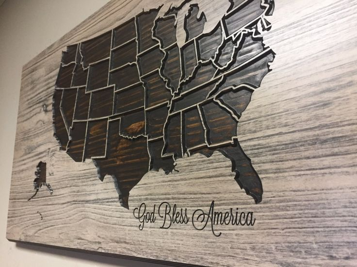United States Map with States | Baltic birch plywood, Baltic birch ...