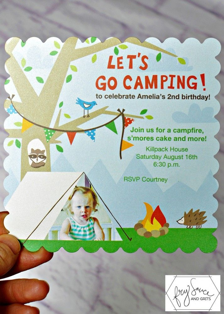 backyard birthday party | Let's go camping in the backyard! Themed Birthday Party
