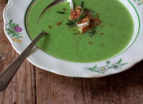 Supa crema de mazare cu ghimbir
