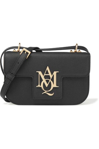 Alexander McQueen - Insignia Textured-leather Satchel - Black - one size