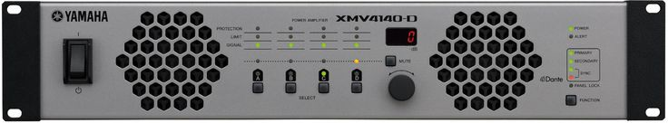 Yamaha XMV4140-D 4 Channel 70V/4 Ohm/8 Ohm Power Amplifier with