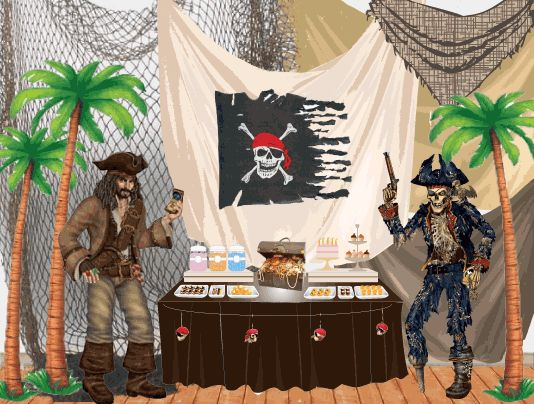 Caribbean Party Ideas And: 124 Best JoJo Pirates Of The Caribbean Party Images On