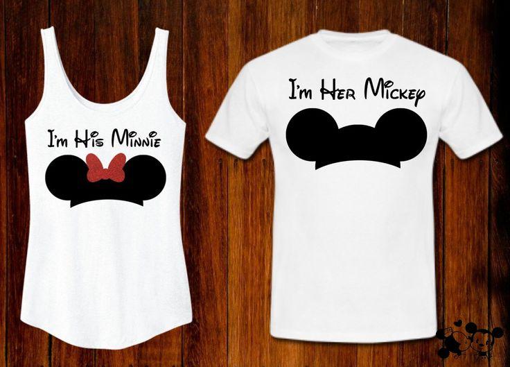 I'm His MinnieTank / I'm Her Mickey Tee Couples Coordinating Disney Shirts Disney World Disney Land MATCHING by TheBizziB on Etsy https://www.etsy.com/listing/237633895/im-his-minnietank-im-her-mickey-tee