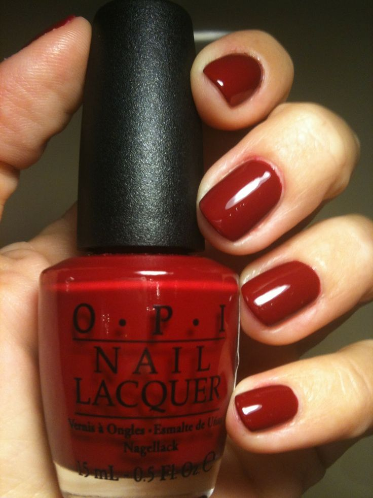 OPI Chick Flick Cherry - Need to pick up this color.