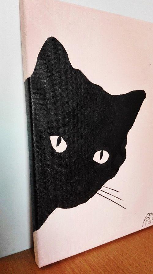 It is a my new friend. She is very black cat, silhouette... :P I like cats... so I like art :) #cat #silhouette #black #cats #art #modern