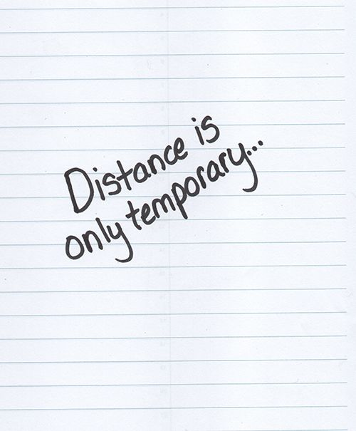 how to handle a temporary long distance relationship