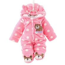 Unisex Cute Bear Baby Rompers Winter Thicken Baby Clothing 3 Colors for New Born Baby Romper CL0430(China (Mainland))