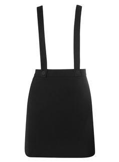 Mini-jupe noire avec bretelles