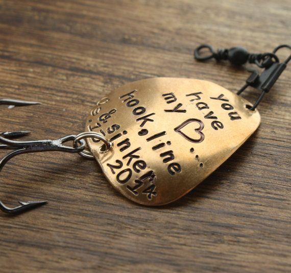 Personalized Fishing Lure Husband Fishing by sierrametaldesign