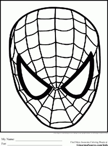 15 best spiderman coloring pages images on pinterest patterns Thor Face Coloring Page Easter Bunny Face Coloring Page spiderman coloring pages pdf