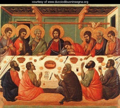The Last Supper - Duccio Di Buoninsegna - Late Gothic Art.