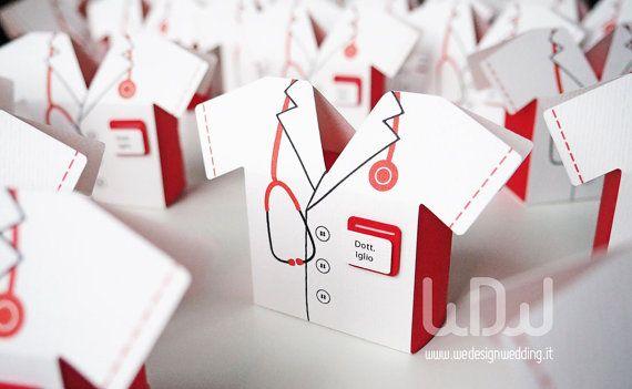 Bomboniera Laurea Medicina_Set da 10 pz_Porta di WeDesignHandmade