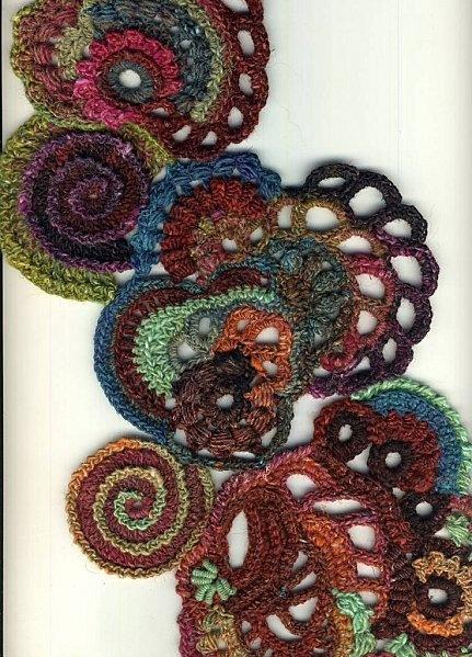 Beautiful free form crochet.
