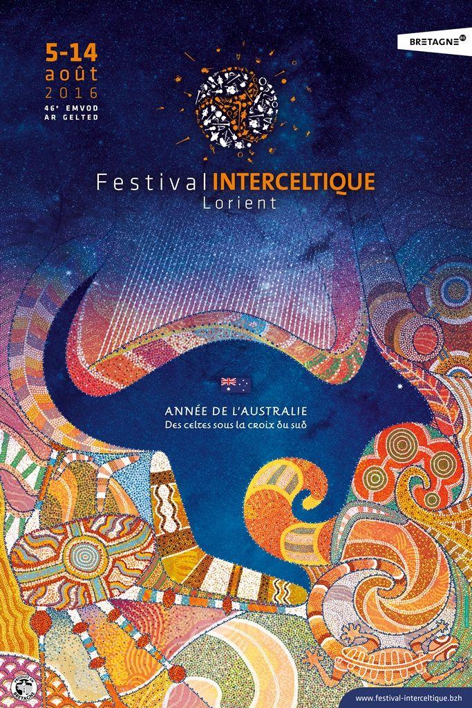Le Festival Interceltique de Lorient, 10 ans après, invite à nouveau l'Australie et dévoile l'affiche de l'édition 2016 dont la programmation sera dévoilée le 14 avril.