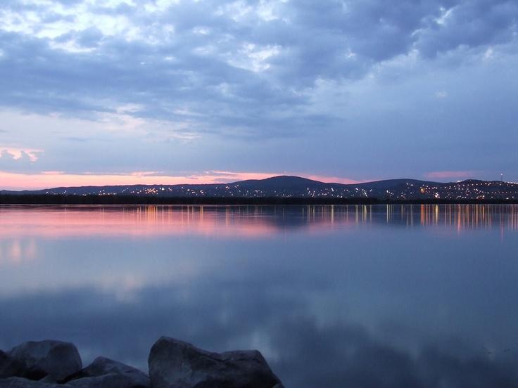 Lake Velence by night