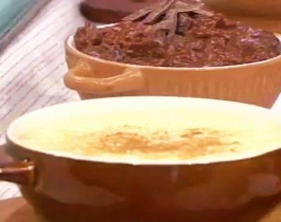 Hidratar el arroz en leche con cáscara de naranja por una hora en heladera. Retirar las cáscaras y llevar a fuego bajo por 25 minutos para tener el arroz a punto. Batir las yemas de huevo con el azúcar (agregar un chorrito de leche si queda muy espeso) y reservar. A los 20 minutos de cocción incorporar la mezcla de yema y azúcar, integrar y cocinar por 5 minutos más. Espolvorear con canela.