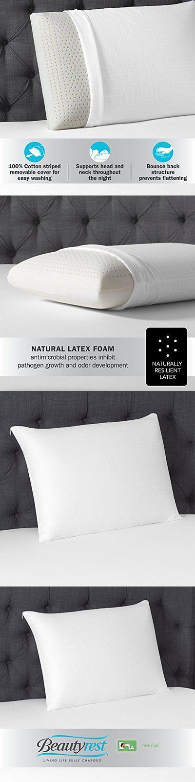 bed pillows latex foam pillow by simmons beautyrest standard no tax