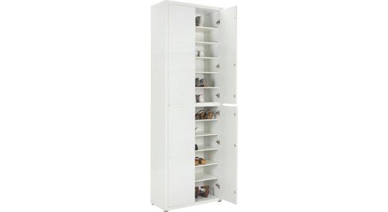 SCHUHSCHRANK Weiß - Weiß, MODERN, Holzwerkstoff (70/211/34cm) - XORA
