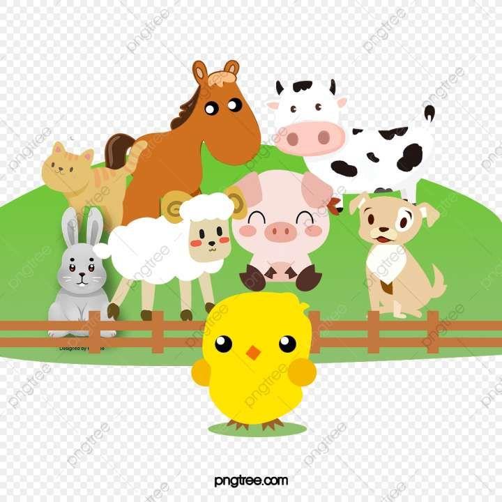 12 Farm Amimals Cartoon Png Baby Farm Animals Cute Animal Clipart Cartoon Animals