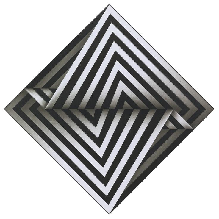 Omar Rayo - Zigiz, 1974/78, acrylic on canvas