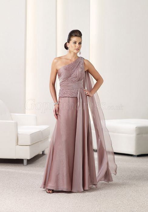 One Strap Mother of the Bride Dresses