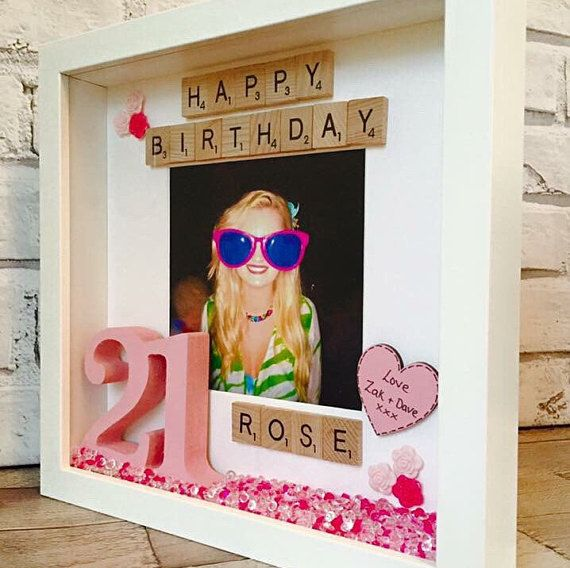 Happy Birthday Frame, Personalised Birthday Gift, Personalised Birthday Picture Frame, Gift For Her, Gifts For Him, Happy Birthday Box Frame