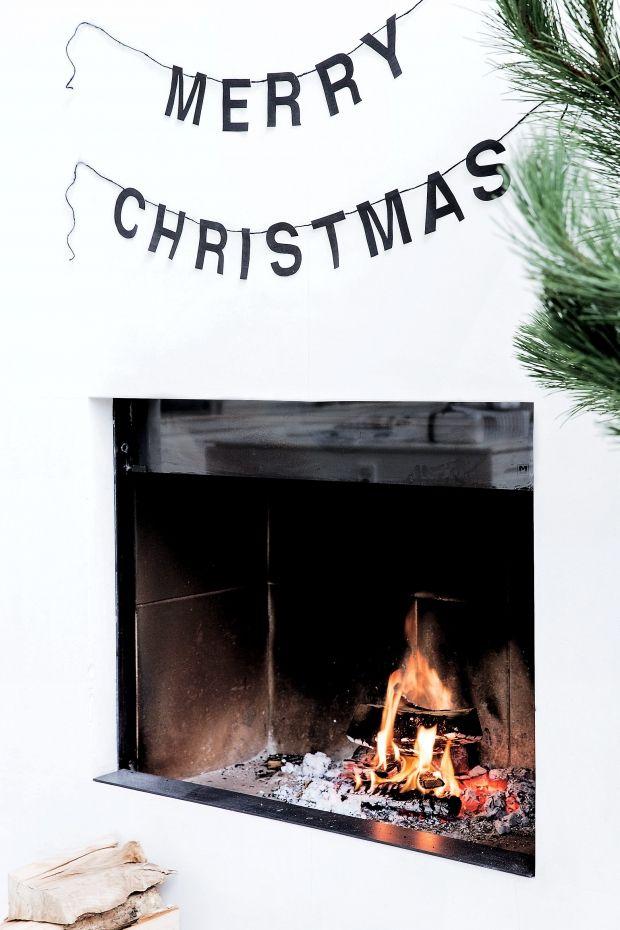 Klip og sy din egen grafiske juleguirlande Grafisk jul in black & white | Femina