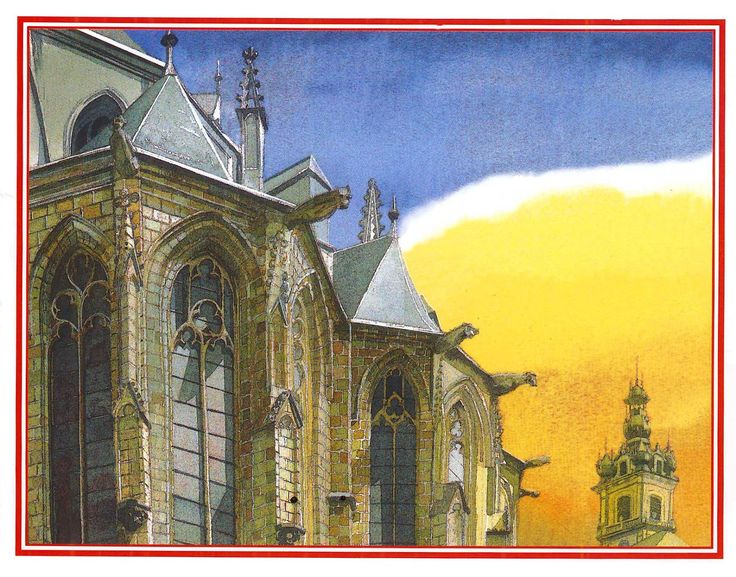 Calendrier Mons 2002 ; Collégiale Sainte-Waudru, Gérard Noirfalise