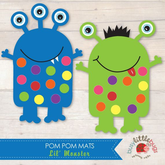 LIL MONSTER POM POM MATS by Busy Little Bugs