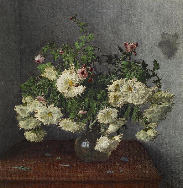 File:Léon Bonvin - Still Life with Vase of Chrysanthemus - Walters 371658 (2).jpg