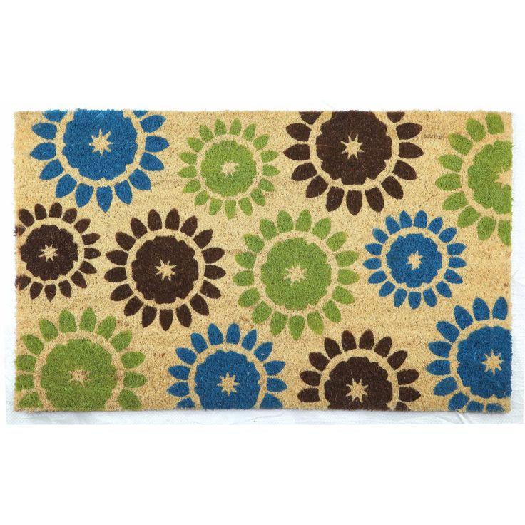 Suzani Green Door Mat