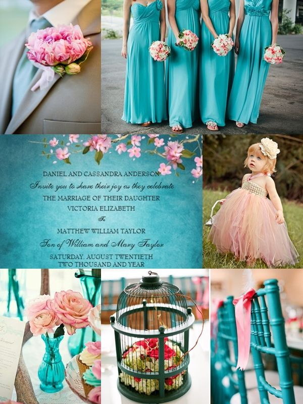 25 Great Ideas About Teal Weddings On Pinterest