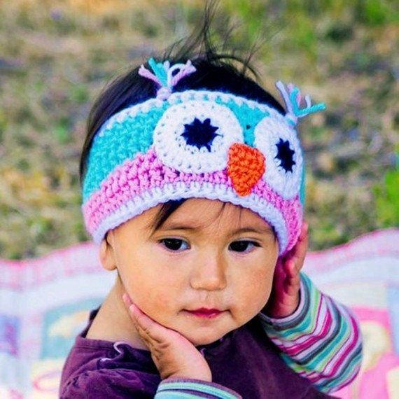 Crochet owl headband   ...   #inspiration_crochet_diy GB ..