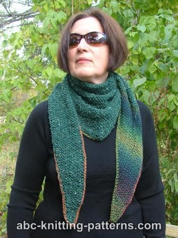 Seed Stitch Triangular Kerchief (Baktus)