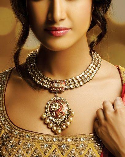 rose styel; kundan; minakari; pearls
