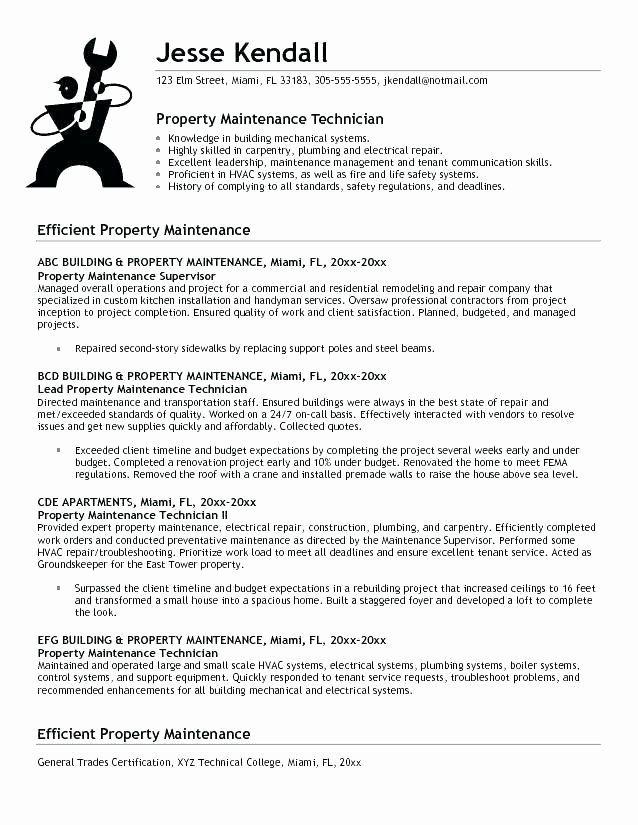 Apartment Maintenance Technician Resume Luxury 11 Gallery Apartment Maintenance Technician Resume Examp Resume Examples Sample Resume Resume Objective Examples