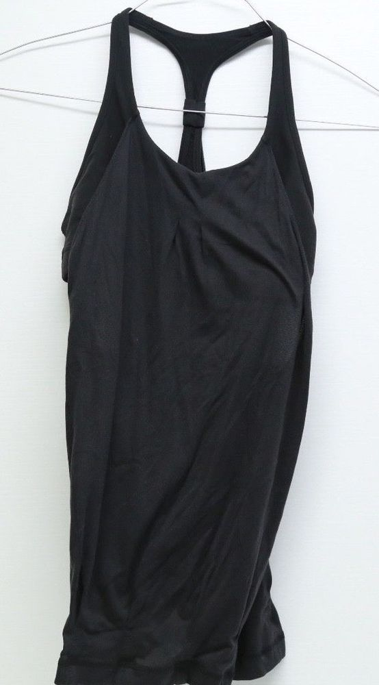 f488728de27 Women s Lululemon Racerback Tank Top With Built In Bra Black Size Small   Lululemon  ShirtsTops